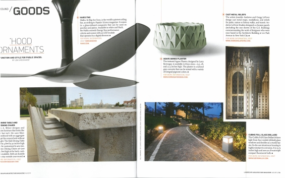 Andrews/LeFevre Studios featured in ASLA magazine